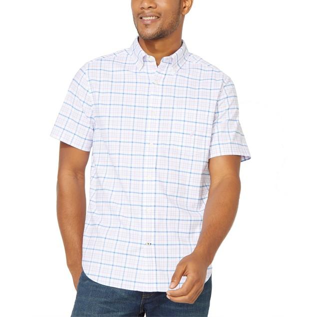 Nautica Men's Plaid Oxford Shirt  Purple Size Large