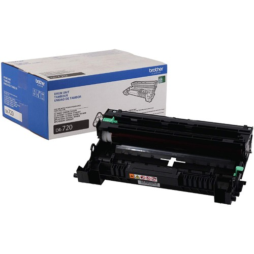 Brothers Brother Genuine Drum Unit, DR720, Seamless Integration, Yields Up to 30,000 Pages, Black