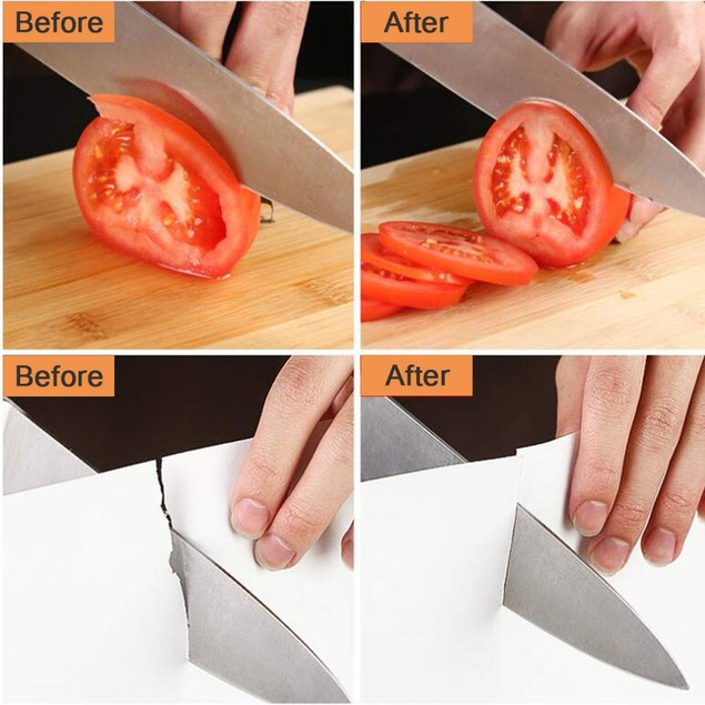 Knife Sharpener Knives Scissor Sharpening Device 4-Stage with Diamond Steel
