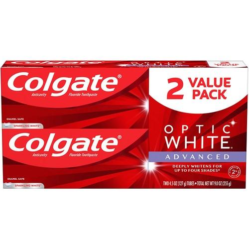 4-Pack:  Colgate Optic White Advanced Teeth Whitening Toothpaste 4.5 oz