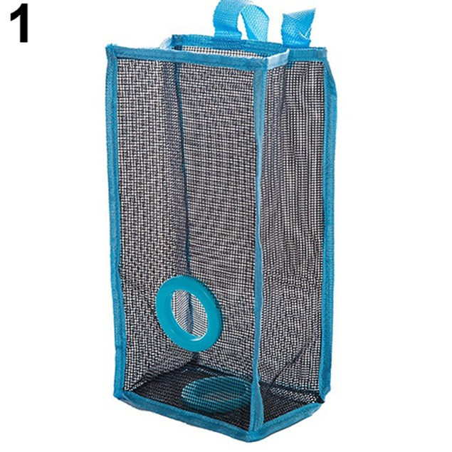 Mesh Hanging Kitchen Garbage Bag Storage