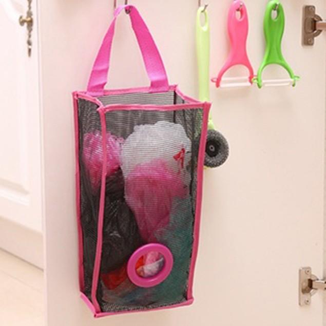 Fashion Breathable Mesh Hanging Kitchen Garbage Storage Packing Bag