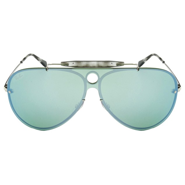 Ray Ban Blaze Shooter Dark Green/Silver Mirror Aviators RB3581N-003/3032