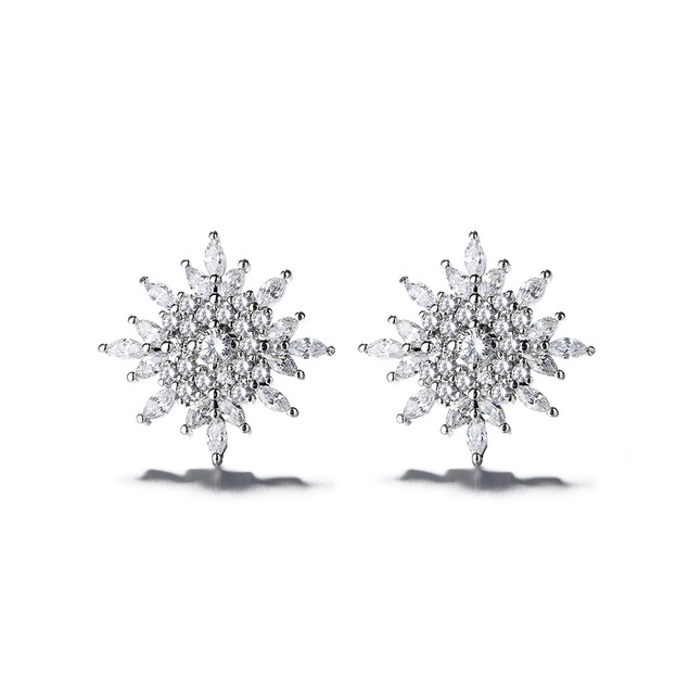 Sterling Silver Starburst Stud Earrings