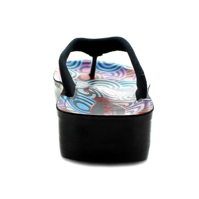 AEROSOFT Swirly Comfortable Thong Summer Casual Flip Flops for Women