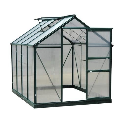 6' x 8' x 7 Greenhouse Aluminum Walk-In Outdoor Plant Garden Polycarbonate