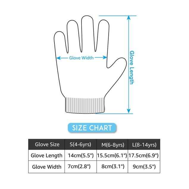 3-Pack Kids Magic Stretch Gripper Warm Gloves With Cute Star