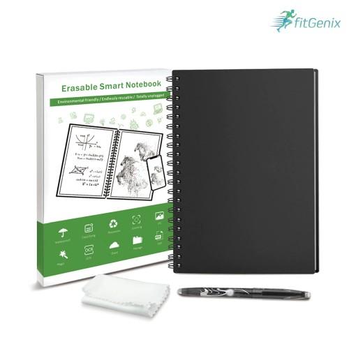 Smart Reusable/Erasable Notebook w/ 1 Pen & Cloth