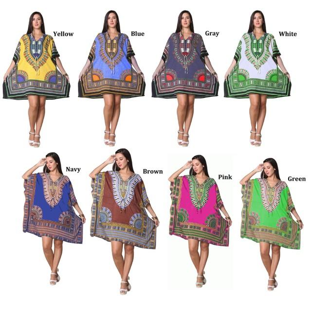 Short Kaftan Kimono Resort Wear, Beach, Pool cover up dress