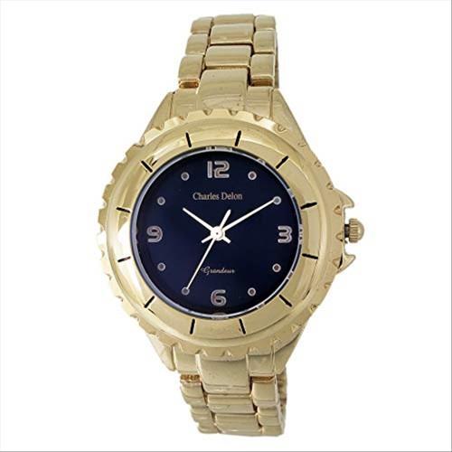 Charles Delon Women's Watches 5582 LABD Gold/Gold Stainless Steel Quartz Round