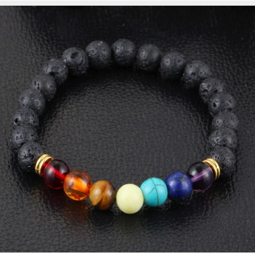 Seven Chakra Bracelet Stone Natural 8mm For Women