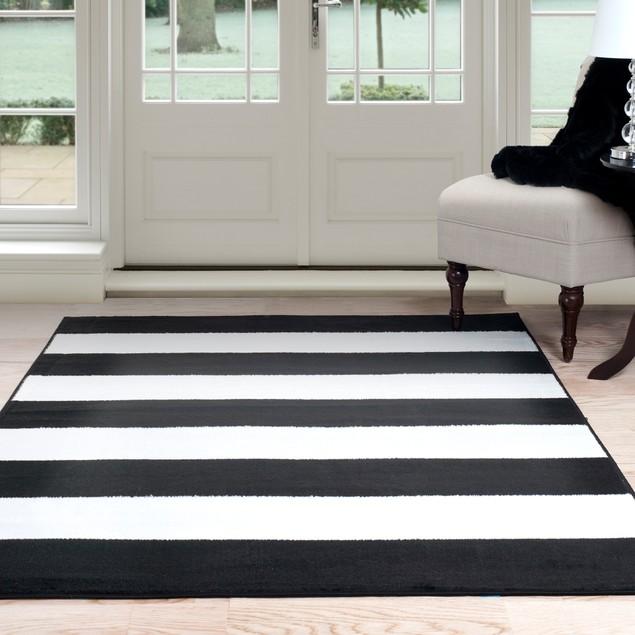 Lavish Home Breton Stripe Area Rug