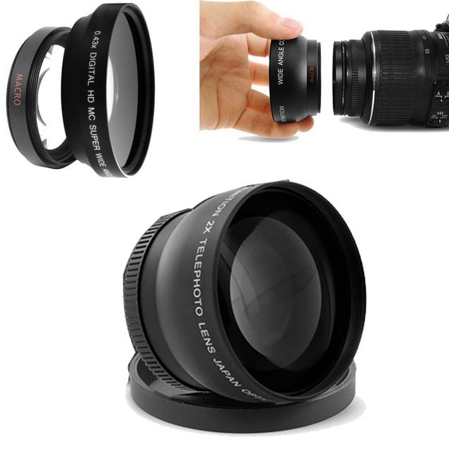 58MM Telephoto Teleconverter Lens + Cap for Canon EOS 700D 650D 600D 550D 350D