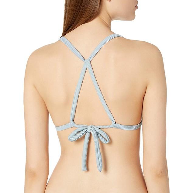 RVCA Women's Salt Wash Racerback Self Tie Adjustability Bikini Top, X-L,