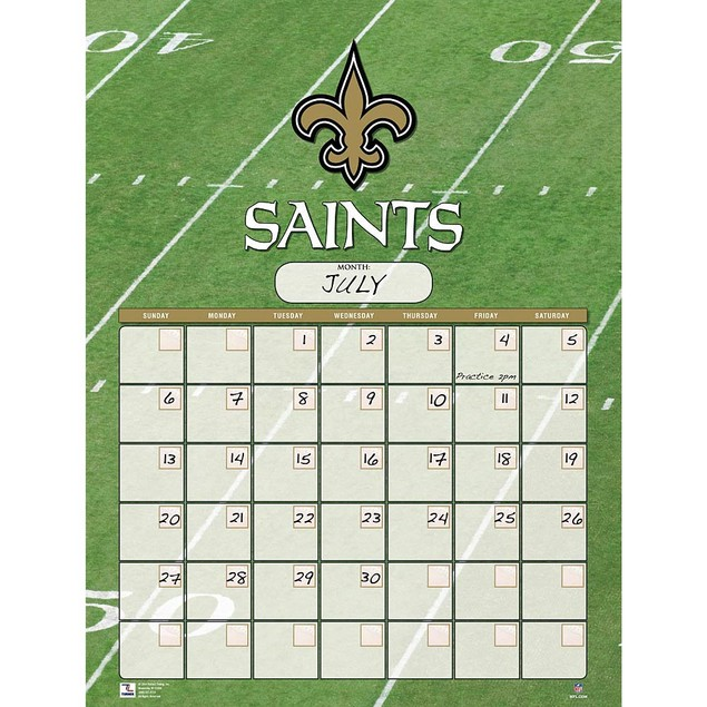 New Orleans Saints Perpetual Calendar, New Orleans Saints by Turner Licensi