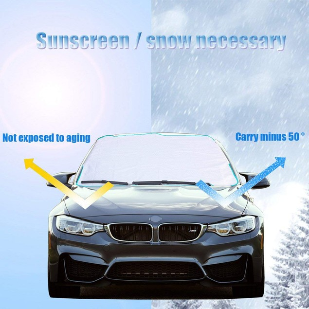 Upbee Winter Weather Snow Shield for Car