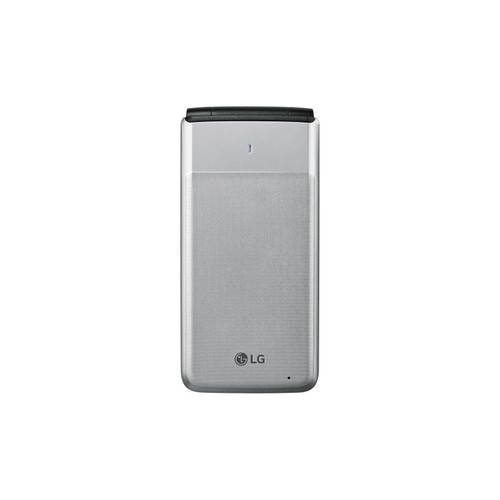 LG Wine 4G LTE Basic Flip-Phone GSM UNLOCKED for AT&T T-Mobile (Silver)