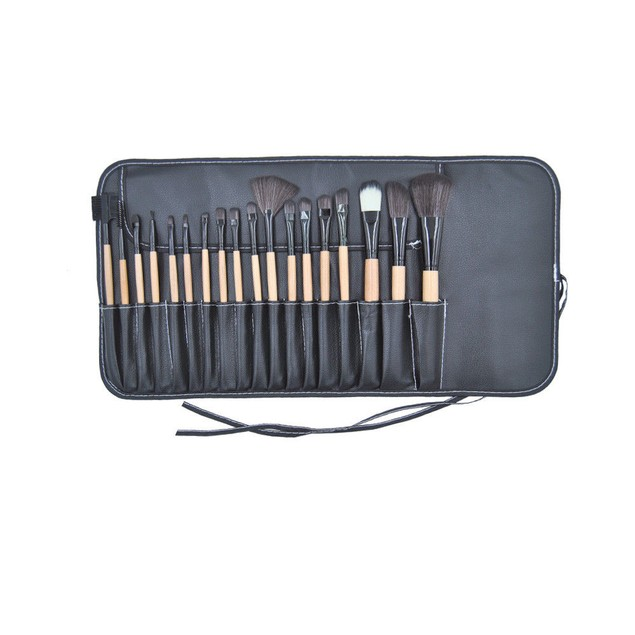 18x Cosmetic Makeup Brushes Set Contour Eyebrow Lip EyeShadow Brush Wood