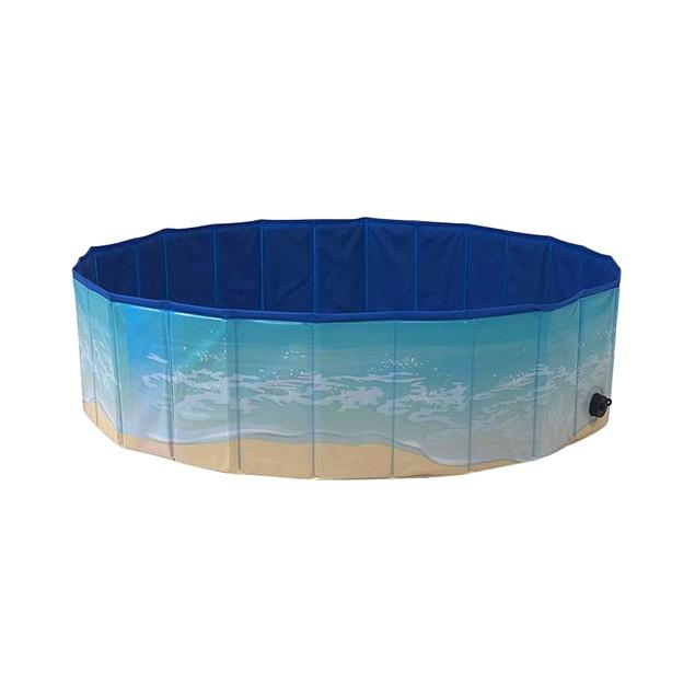 Midlee Dog Pool - Foldable & Portable Outdoor Bathing Tub …