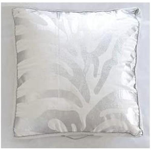 Spura Home Zebra Silver Printed Bean Bag Pillow 28x28 x 4' with Handle