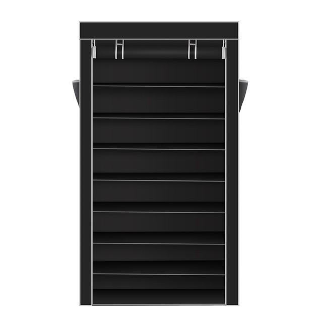 10 Tiers Shoe Rack With Dustproof Cover Closet Shoe Storage Cabinet