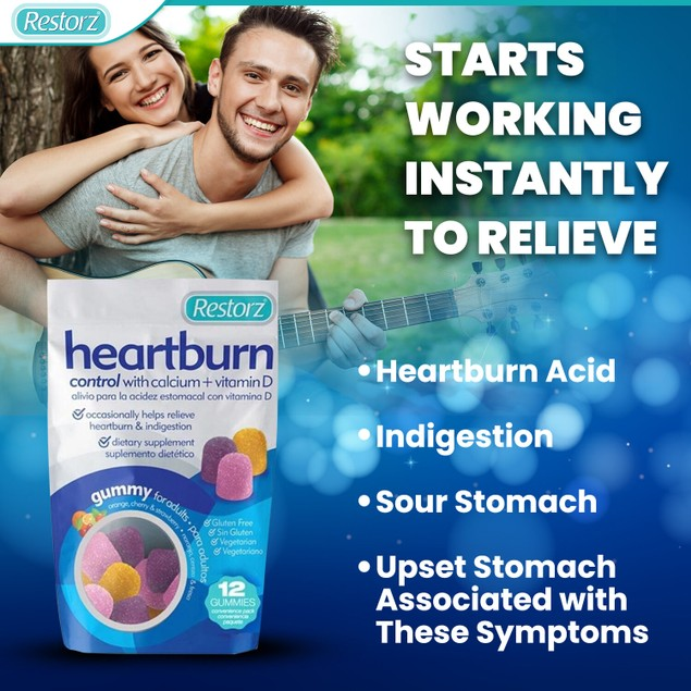 Restorz® Heartburn Relief 12 count pouches