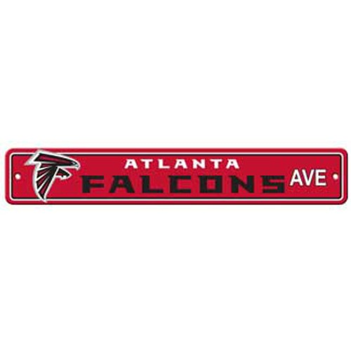 "Atlanta Falcons Ave Street Sign 4""x24"""