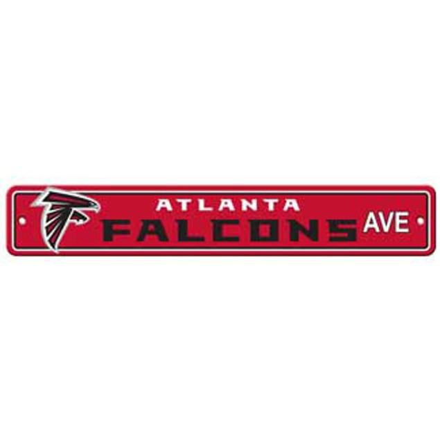 """Atlanta Falcons Ave Street Sign 4""""x24"""""""