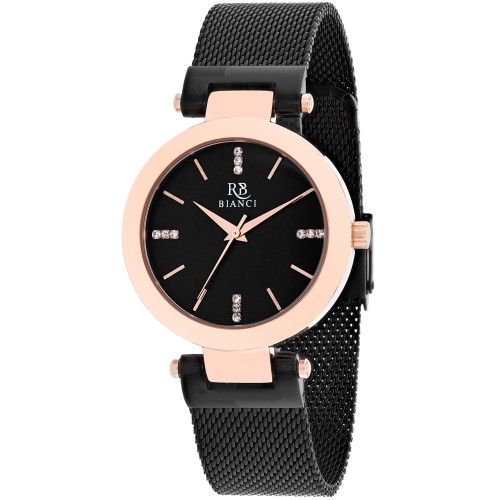 Roberto Bianci Women's Cristallo Black Dial Watch - RB0405