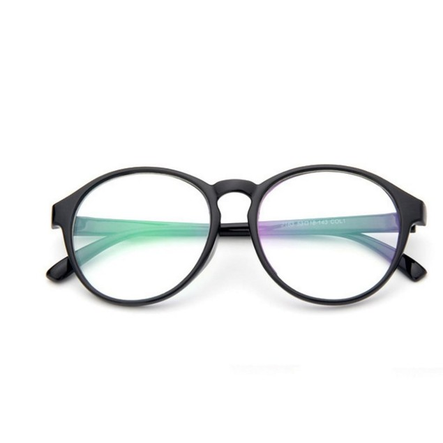 Futaba Sakura Round Black Glasses