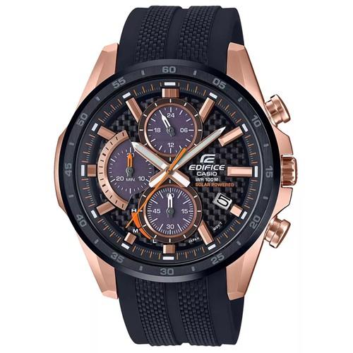 Casio Men's Edifice Black Dial Watch - EQS900PB-1AV