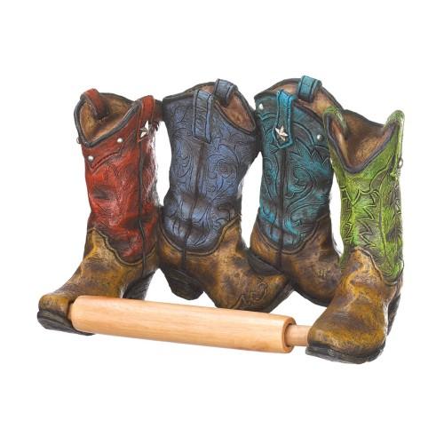 Koehler Home Decor Cowboy Boots Toilet Paper Holder