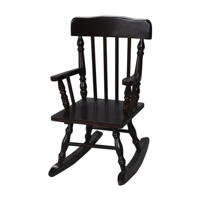Gift Mark Colonial Children's Rocking Chair- Espresso