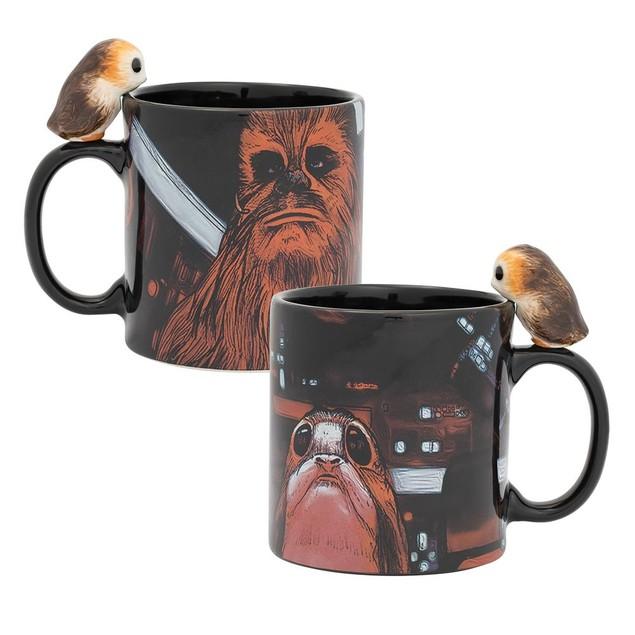 Star Wars Peeking Porg 20 oz. Sculpted Ceramic Mug