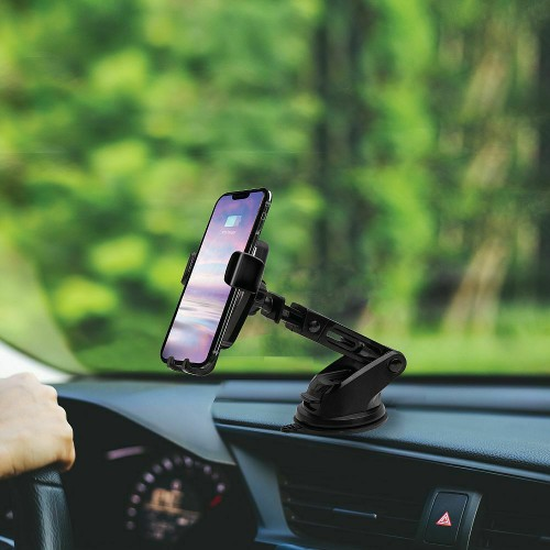 Wireless Car Charger & Mount for Qi-Enabled Mobile Phones