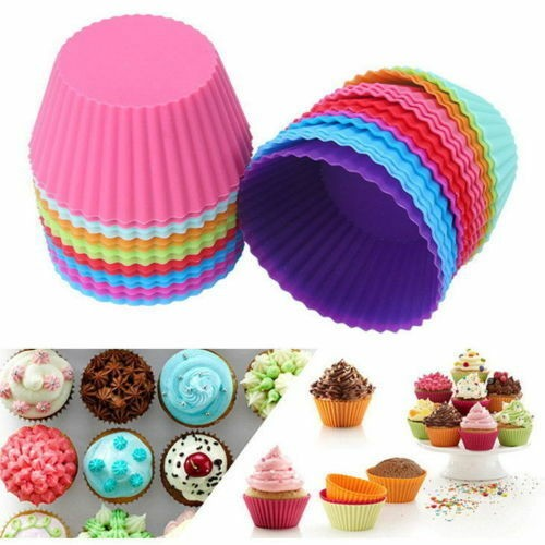 20 pcs Soft Silicone Round Cake Muffin Chocolate Cupcake Liner Baking Cup Mold