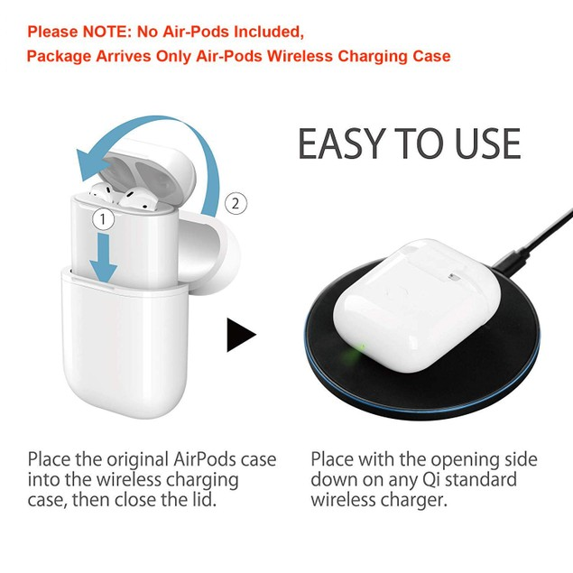 Airpods Qi Wireless Charging Case Cover