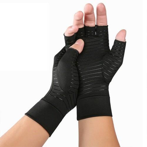 Arthritis Compression Gloves Copper Heal Rheumatoid Carpal Tunnel(Medium)