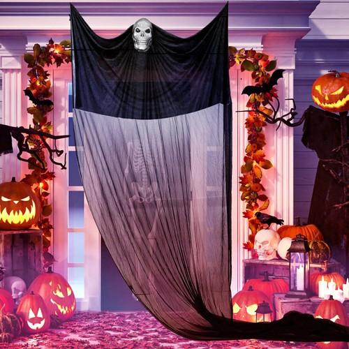 Halloween Hanging Ghost Prop Hanging Skeleton Flying Ghost Skeleton Ghost