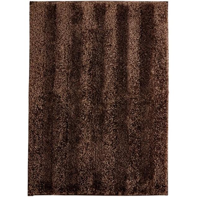 "Mohawk Home Luster Stripe 20""x 34"" Skid-Resistant Bath Rug, Chocolate"