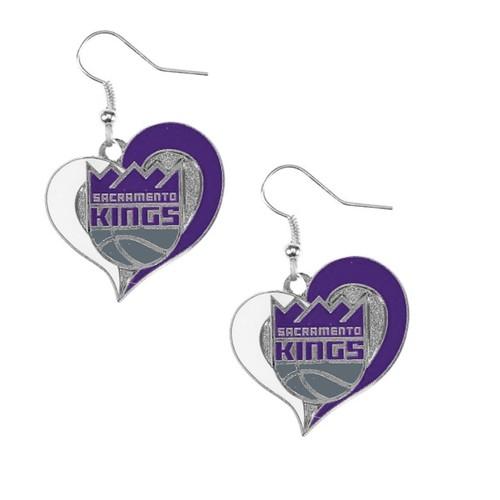 NBA Swirl Heart Earring Dangle Logo Charm Gift