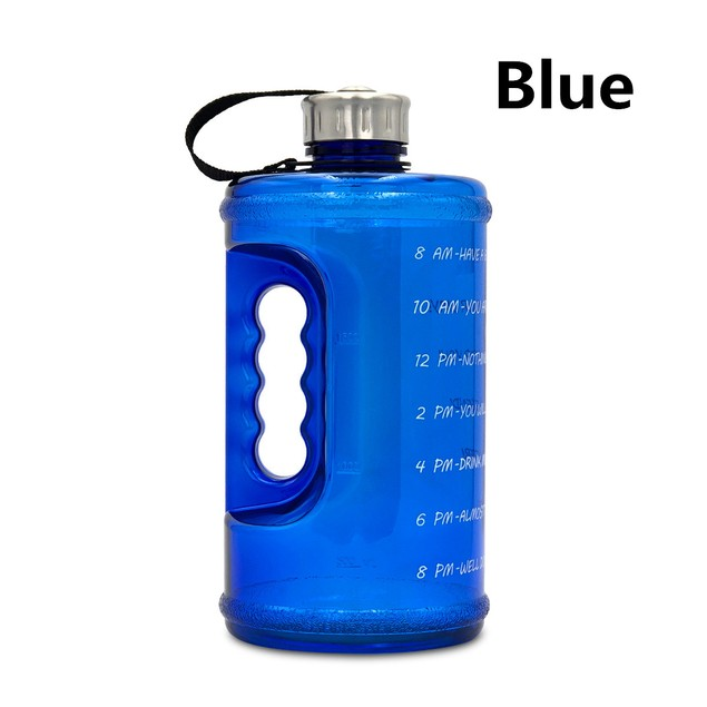 2.2L Sports Bottle Gradient Plastic Gym Large Capacity Outdoor Space Cup