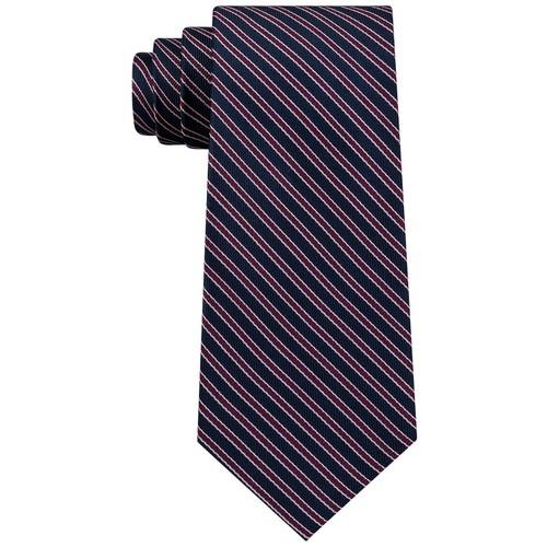 Tommy Hilfiger Men's Preppy Stripe Tie Red Size Regular