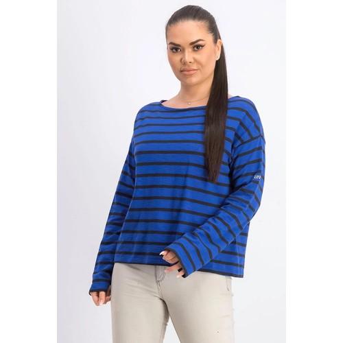 Levi's Women's Cora Cotton Sailor T-Shirt Blue Size Extar Small