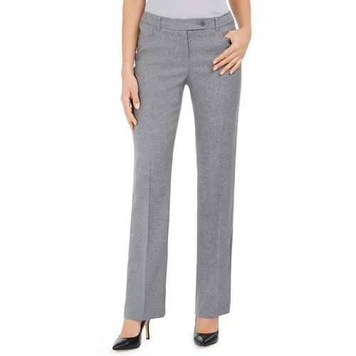 Annie Klein Women's Duke Twill Dress Pants Gray Size 4
