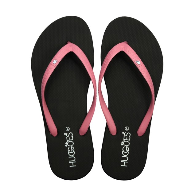 HUGGOES - Ebony Women's Natural Rubber Summer Flip-Flops