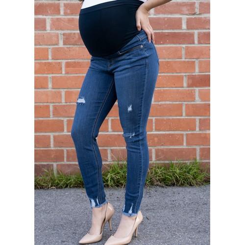 Raw Hem Maternity Jean
