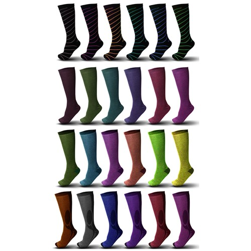 9-Pair Mystery Deal: Ladies Knee High Fashion Socks