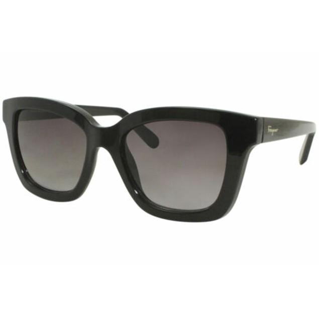 Salvatore Ferragamo Sunglasses for Women SF955S Black Rectangle 100% UV