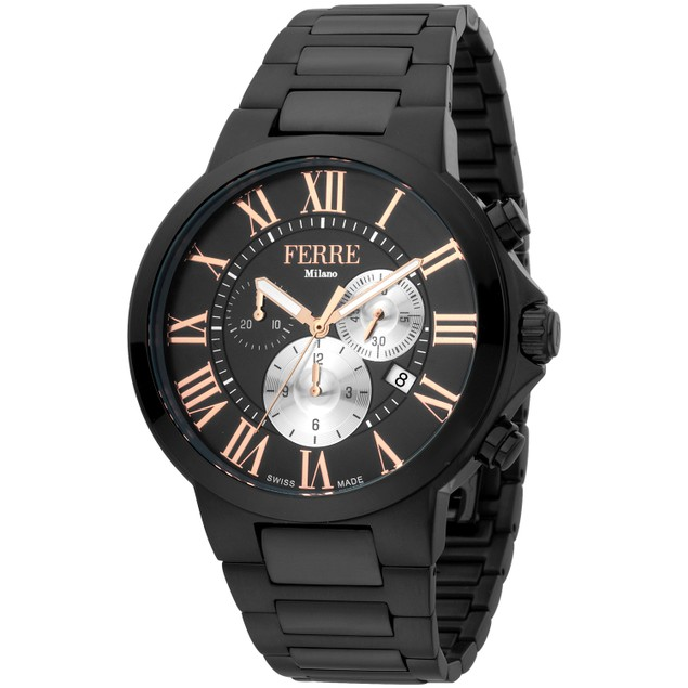 Ferre Milano Men's Classic Black Dial Watch - FM1G177M0071